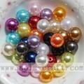 ABS plástico redondo perla abalorios imitación joyería perlas de imitación a granel