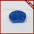 checker corte de londres topacio azul de laboratorio gemas creadas
