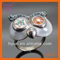 búho de aleación para hombre anillo de búho anillo negro de la moda anillo de búho