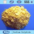 de alta calidad de sulfuro de sodio fórmula química na2s escamas de color amarillo