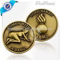 3d anti- bronce de metal de la moneda