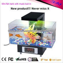 Mini-aquarium de poissons les plus populaires avec la lumière d'aquarium