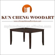 Aparência antiga sala de jantar e móveis do tipo mesa quadrada/barato praça mesa de jantar e cadeiras