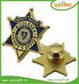personalizado 2014 chapado en oro estrella estrella en forma de placa de metal pin