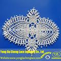 yjc16703 blusa bordada patch pescoço design gola de renda