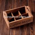 vintage antiguo de imitación de madera café caja de almacenamiento con compartimentos