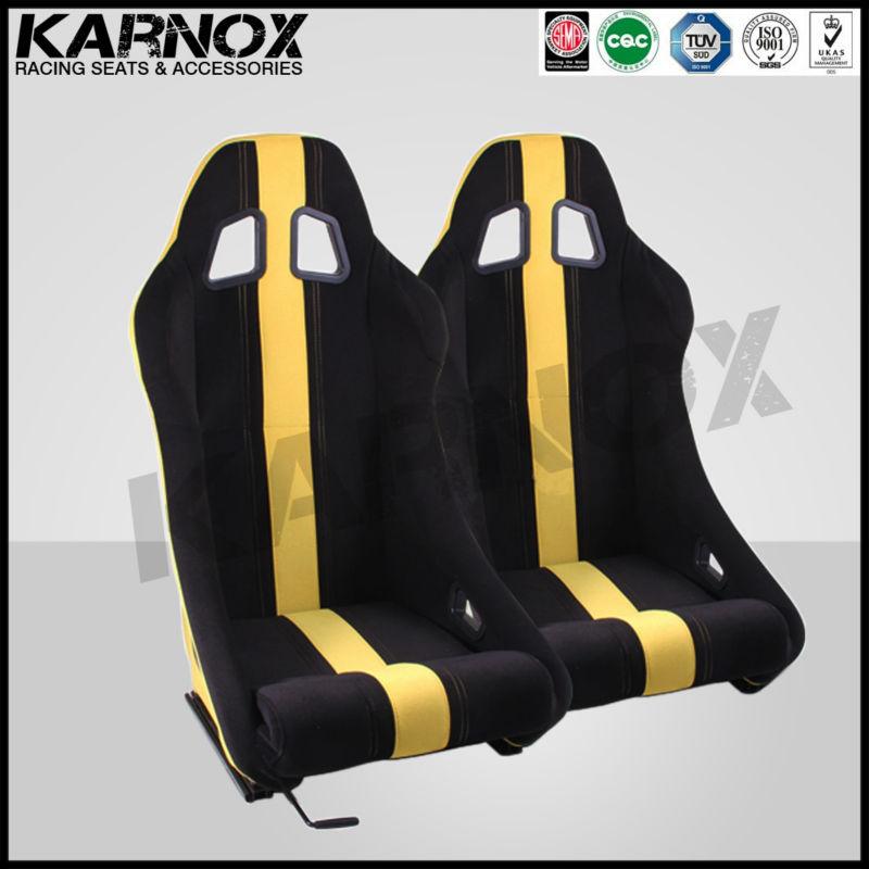 ткани авто спортивные сиденья, ткани спортивной мест для автомобилей, черный/желтой полосой