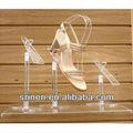 zapato de acrílico soporte de exhibición para freestand