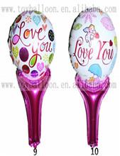 Globo globos de San Valentín soplan stick