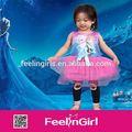 atacado boutique infantil congelados crianças vestido modelo