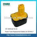 Células de bateria 18v dewalt/bateria para dewalt de9074
