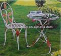 fabricante de porcelana redonda de hierro forjado jardín mesa y una silla conjuntos