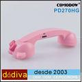 Combinado Hello Kitty Telefono retro compatible,casco,multi-colores,compatible con todos los móviles para iPhone,Samsuny Galaxy