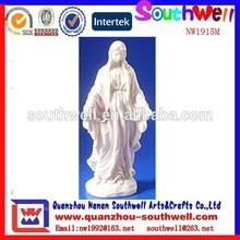 venta al por mayor de encargo de la resina de decoración del hogar christain estatuas religiosas de maría