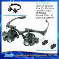 NO.9892G LED Gafas Iluminado lupas binoculares