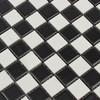 mate esmalte azulejos de mosaico de cerámica en blanco y negro