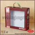 venda direta da fábrica de decoração de papelão caixas de armazenamento com punho 2014 novo modelo