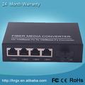OEM 10/100M 20km 1 fibra 4 ethernet fibra óptica medios precio convertidor