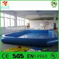 ce de alta por encima del suelo de la piscina de natación equipo inflable piscina