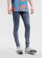 la moda de tinta lavado de nieve spray super en los pantalones vaqueros pantalones y pantalones para los hombres