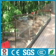 exterior u canal de aluminio con vidrio framless pasamanos