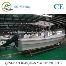 6.8 metros llena barco de pesca de fibra de vidrio para la venta FRP680
