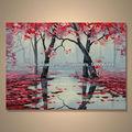 popular moderno abstracto pintado a mano de color de la pintura de arte