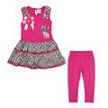 Fs varejo um conjunto! Baby 2014 primavera verão roupa nova moda cão lindo vestido meninas + conjuntos de calça 6023