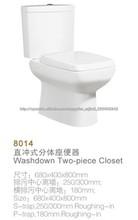 Cuarto de baño baldeo inodoro de dos piezas armario de cerámica JL-8014