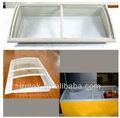 venta caliente de la curva de vidrio para la puerta del congelador en el pecho