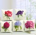 país florales diseños contemporáneos de lino funda de cojín