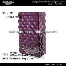 2013 Inicio decoración púrpura gabinete tallboy reflejado con acero inoxidable