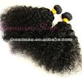 cabello humano kinky afro extensiones de cabello negro para las mujeres