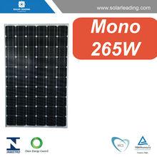 Mejor potencia precio 265w panel solar con caja de conexiones pv para sistema de energía solar