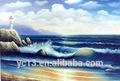 de alta calidad pintado a mano pintura al óleo marino