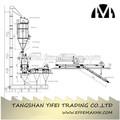 Maquinaria de embalaje automático/línea de embalaje para la planta de cemento
