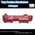 cuero rojo sofá esquinero redonda Y01#