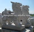 mármore branco esculpidas figuras de animais