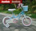royalbaby stargirl bicicletas de niño con cesta y ruedas de entrenamiento realizado por el fabricante de china