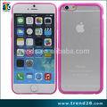 Caliente transparente pc + tpu caja del teléfono móvil para el iphone 6