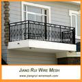 negro pvc valla para balcón