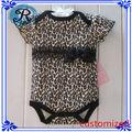 Personalizado de algodão orgânico do bebê Macacão Atacado Rompers da cópia do leopardo do bebê Roupas One Pieces Macacões Fabric