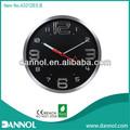 """Guangzhou decoración del hogar moderno diseño 12"""" de cuarzo ronda de pared de metal reloj 3d imágenes"""