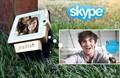 Skype chat de vídeo reloj teléfono celular pulsera