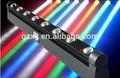 estroboscópico rápido en movimiento 8x10w píxeles led en movimiento de la viga de la barra de luz