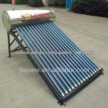 acero inoxidable calentador de agua solar no presurizado