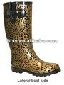 de moda de arranque wellington leopard botas de goma