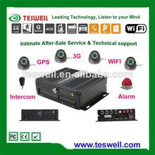 Teswell ts-820 serie de 4 canales dvr tarjeta sd dual stream móvil dvr graba