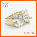 calidad alta verdadero anillo plateado oro moda anillos de bodas dubai