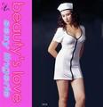 meninas sexy fotos quente branco enfermeira traje lingerie